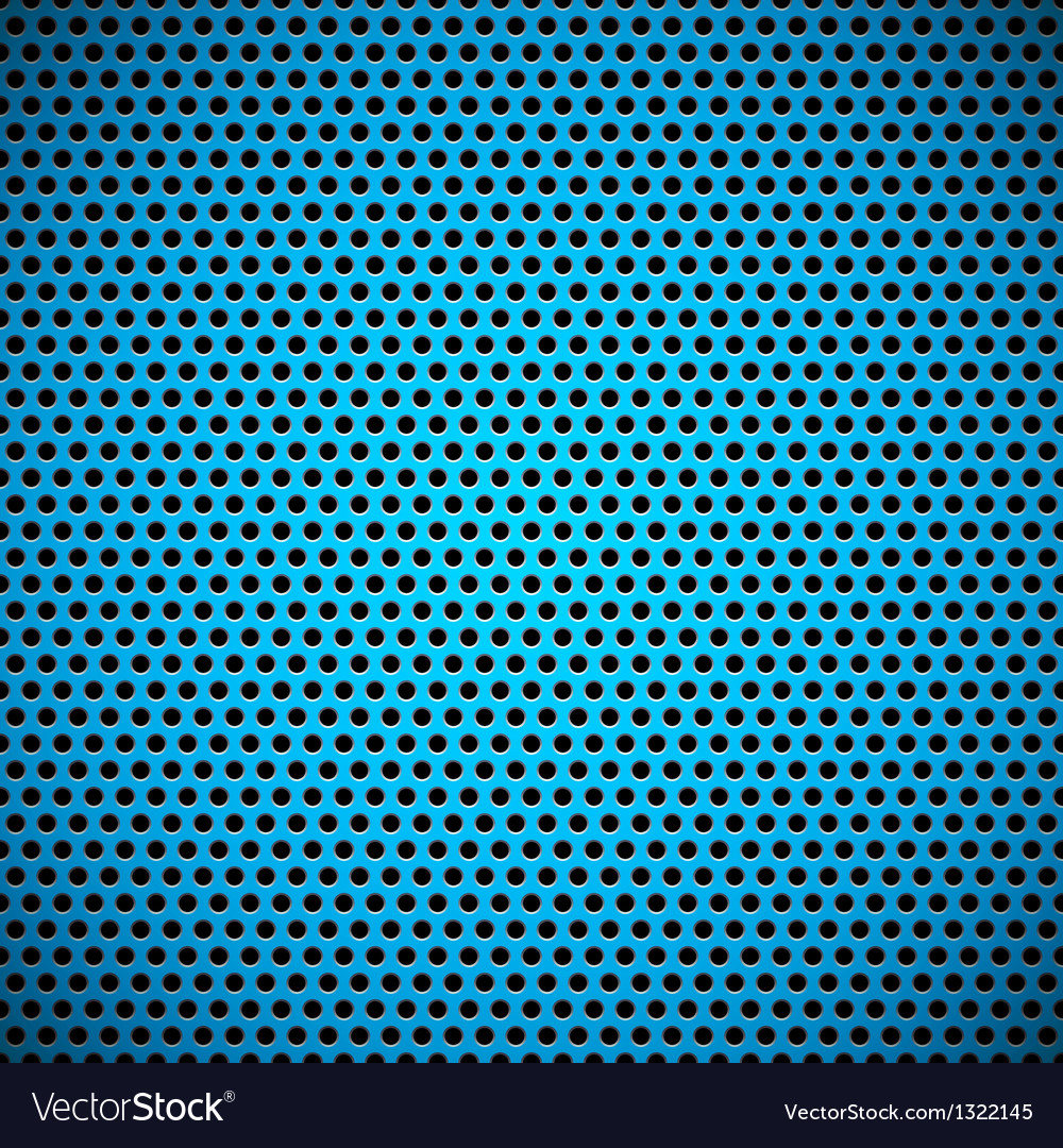 Blue seamless circle perforated grill texture vector