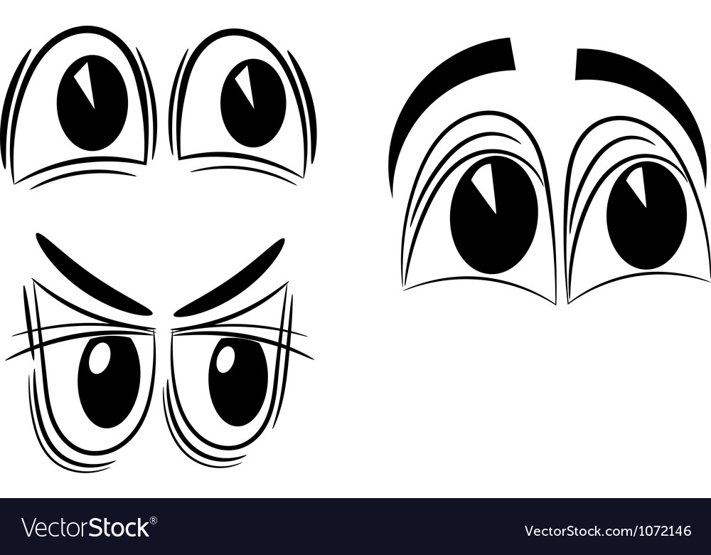 Free cartoon eyes eps10 vector