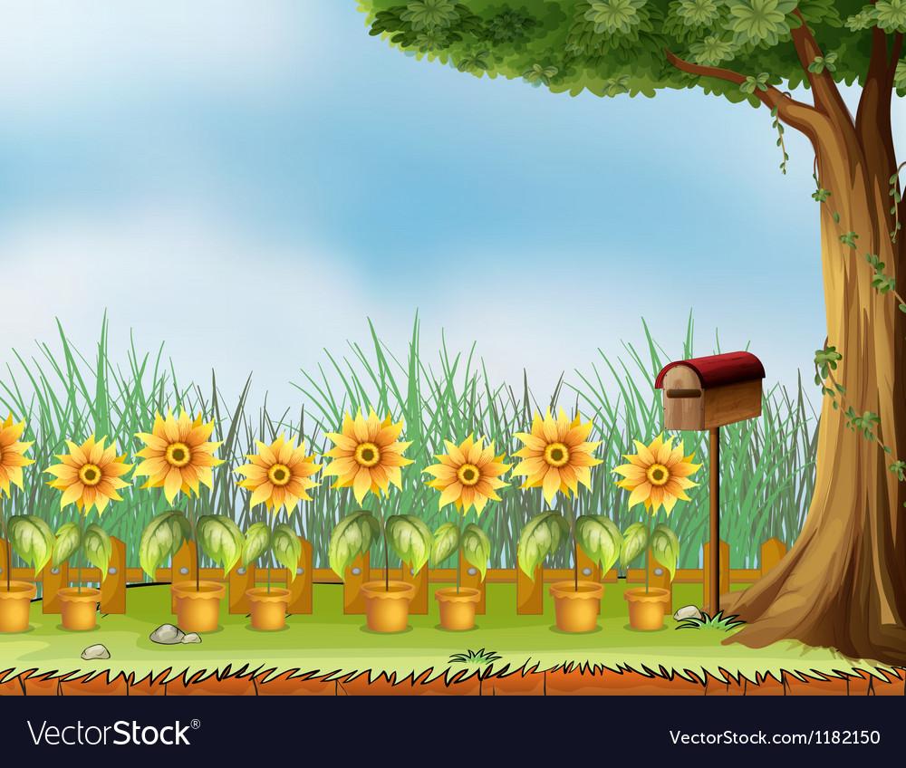 Garden mailbox vector