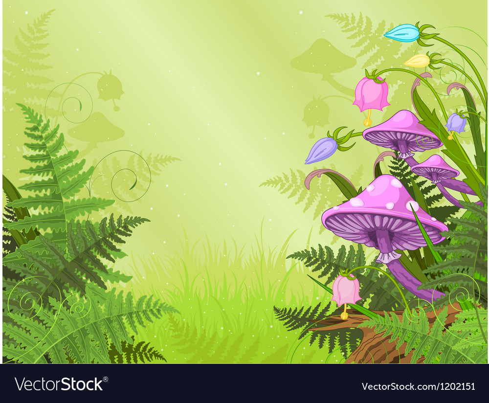 Magic landscape vector