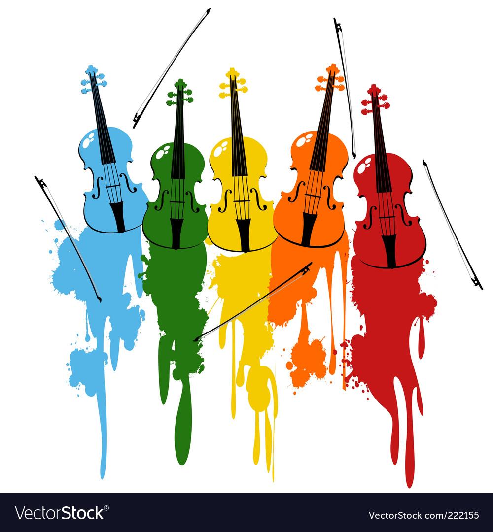 Violins background vector