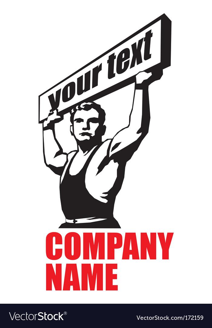 Strong Man Logo Strong man vectorStrong Man Logo