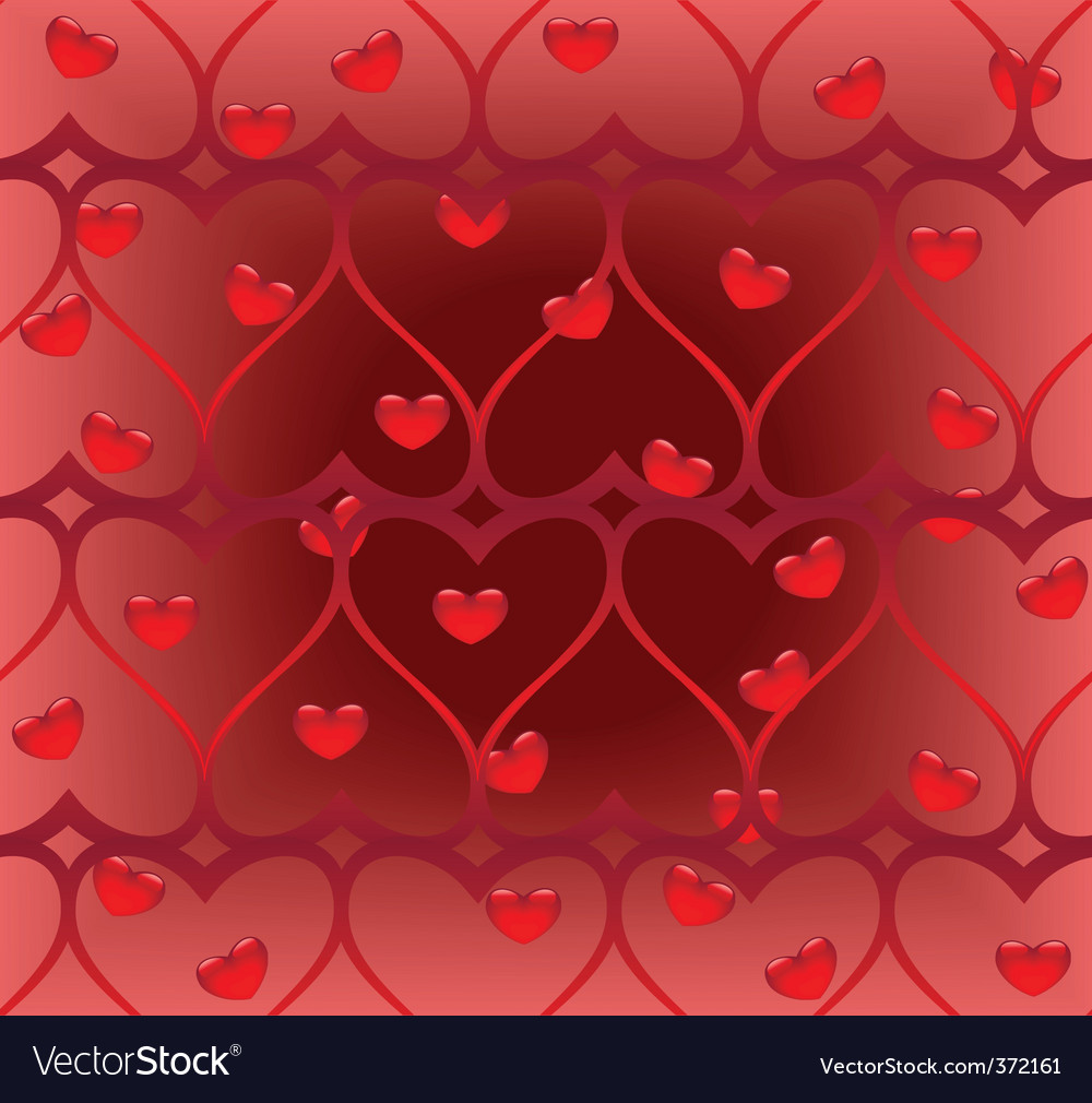 Twisted heart seamless pattern vector