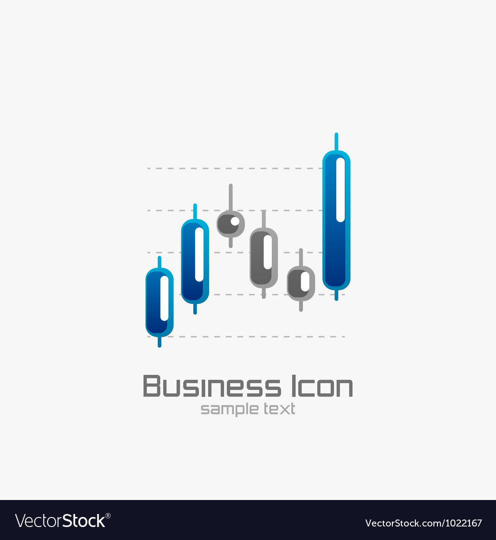 Stock chart icon vector