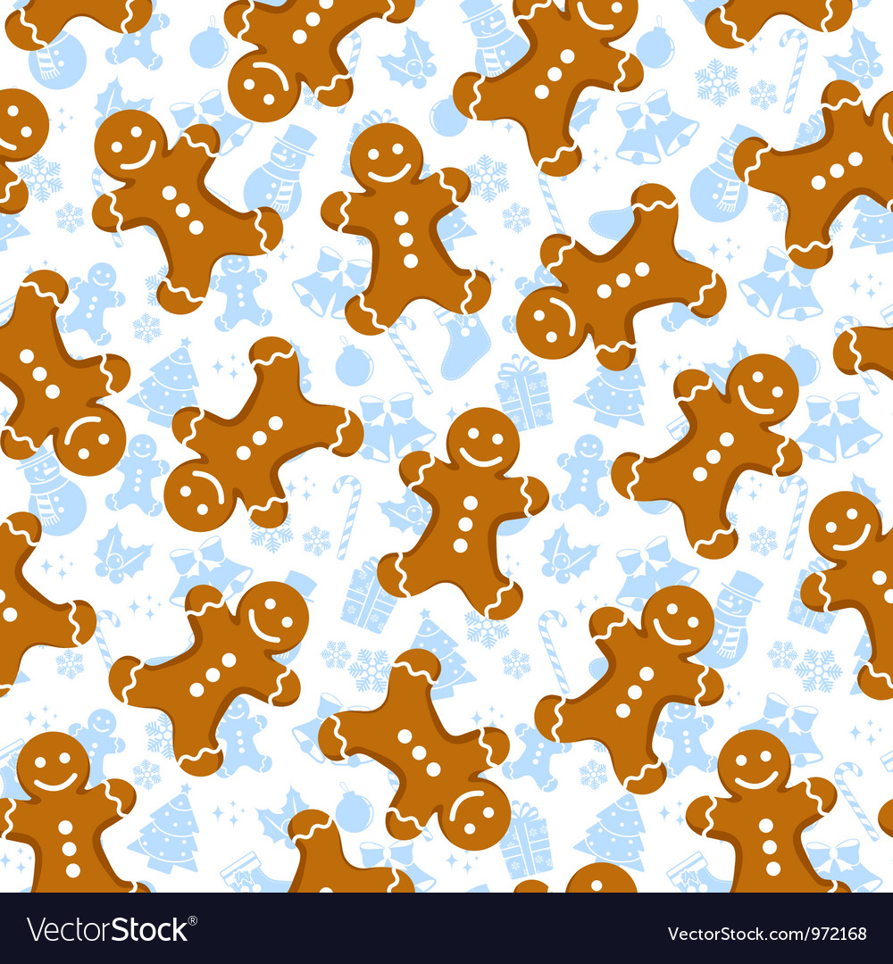 Gingerbread Man Background With gingerbread men and