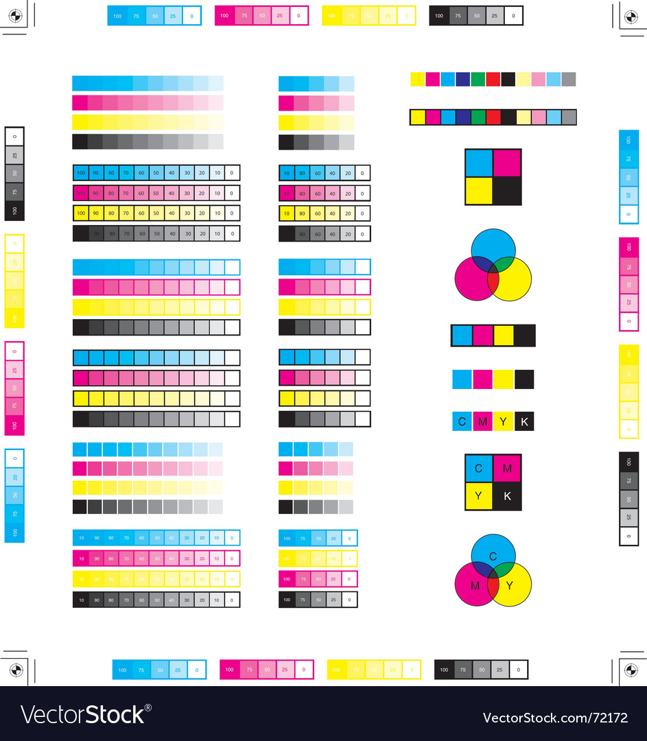 Printing marks vector