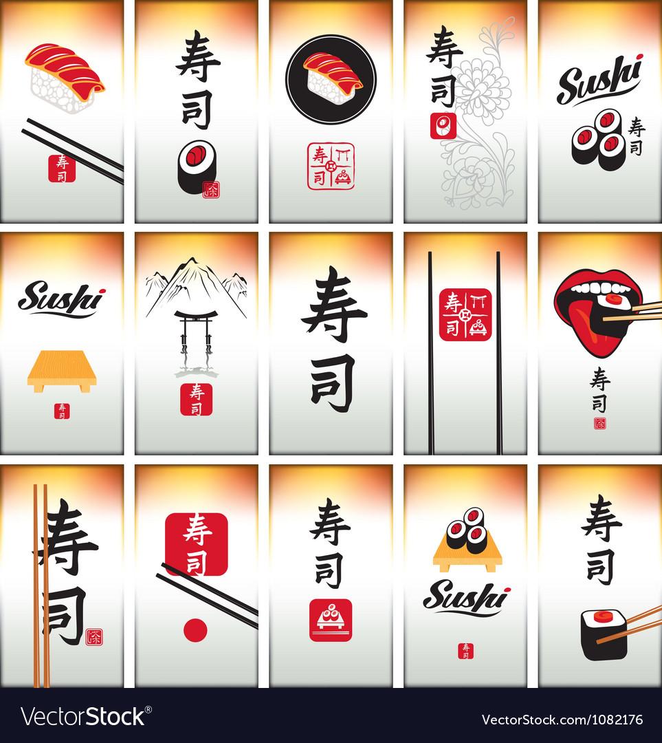 Sushi card vector