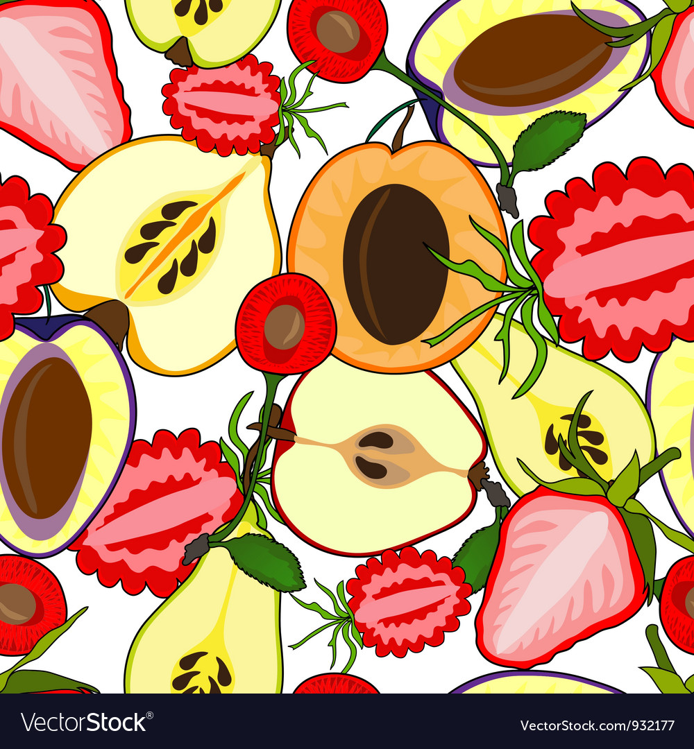 Fruit seamless vector