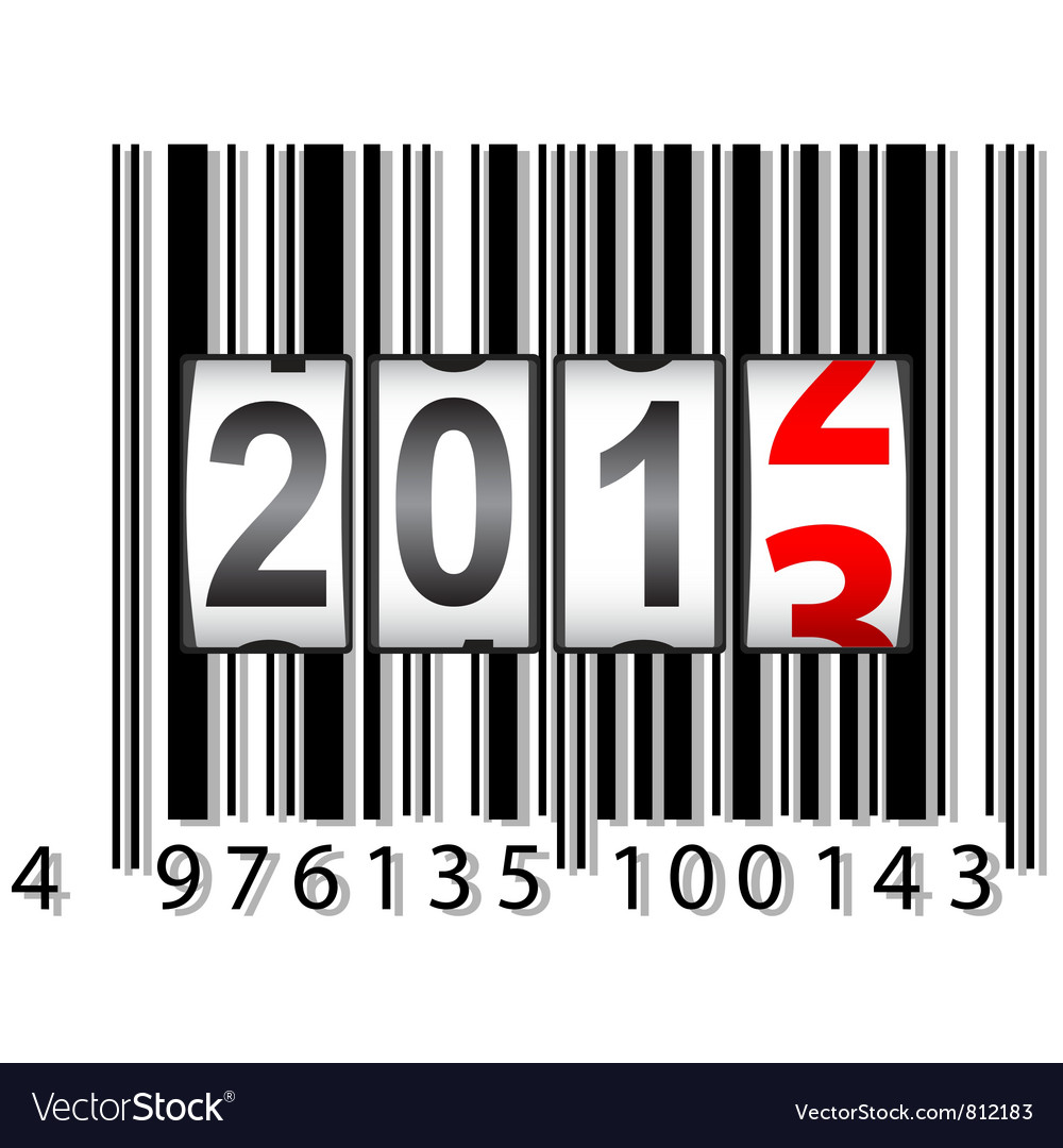 2013 new year counter barcode vector