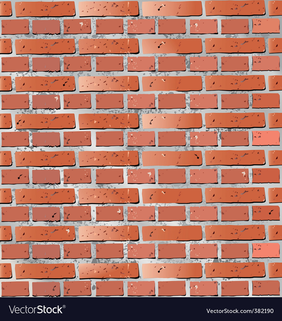 Wall brick vector