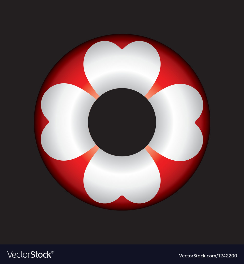 An isolated lifebuoy icon vector