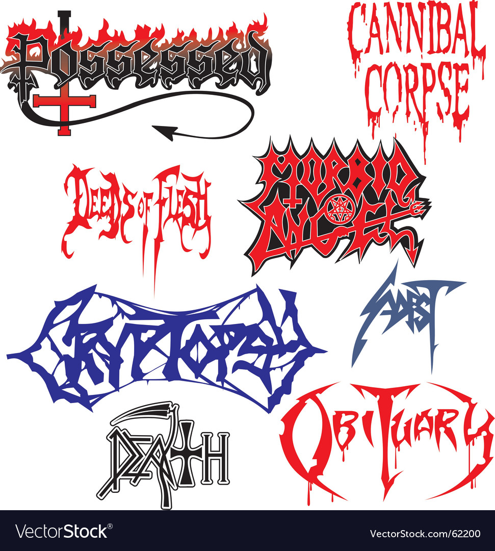 Free death metal vector
