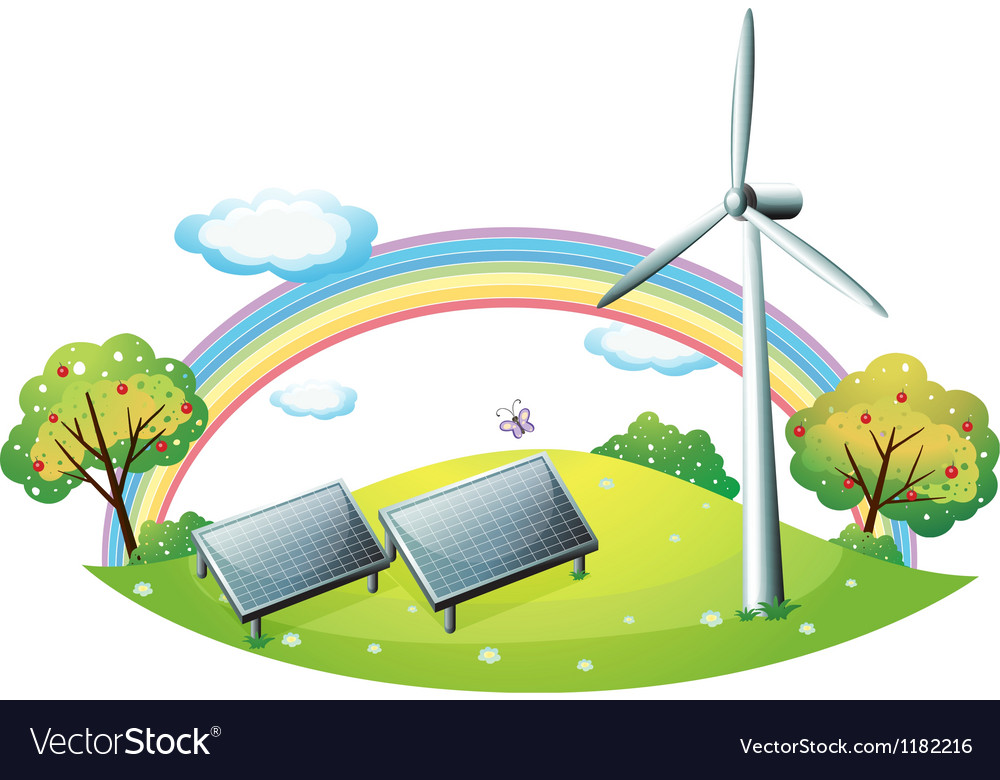 Renewable energy background vector