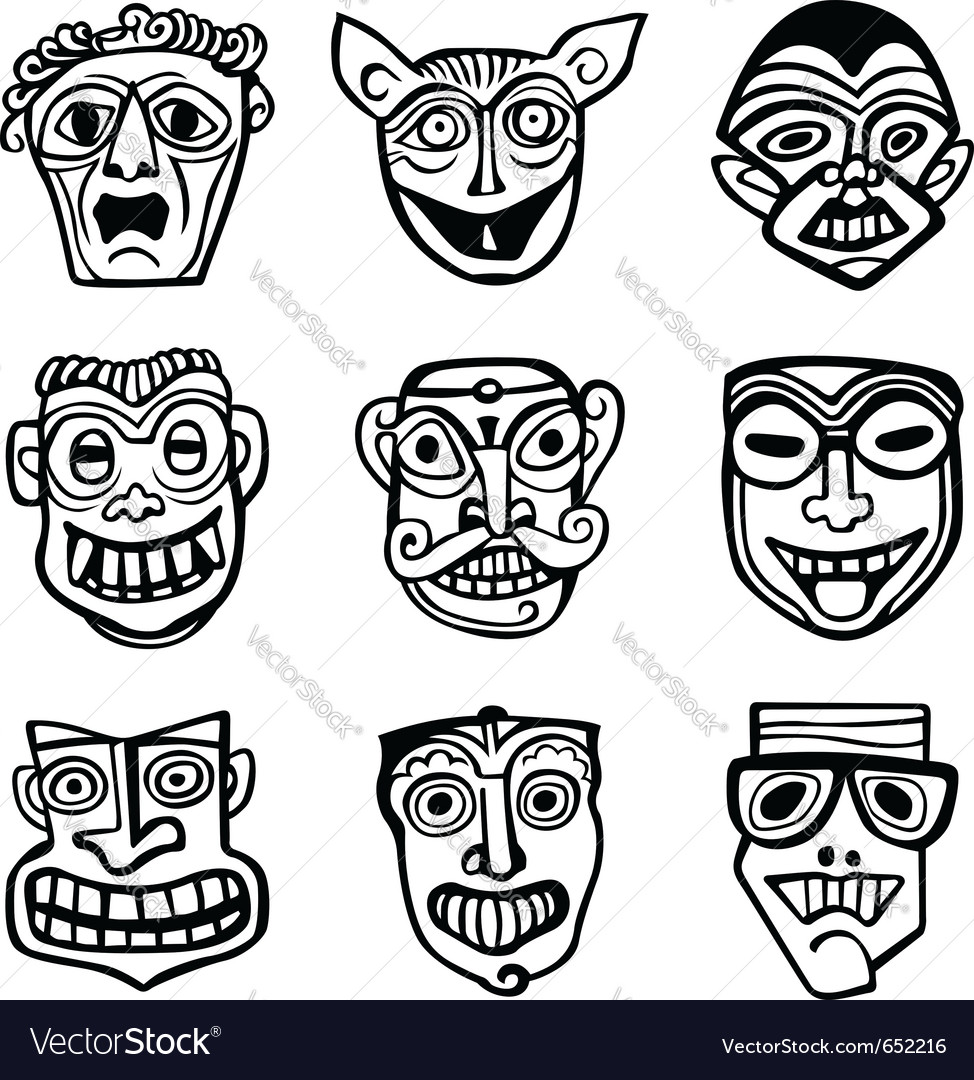 Set of masks vector