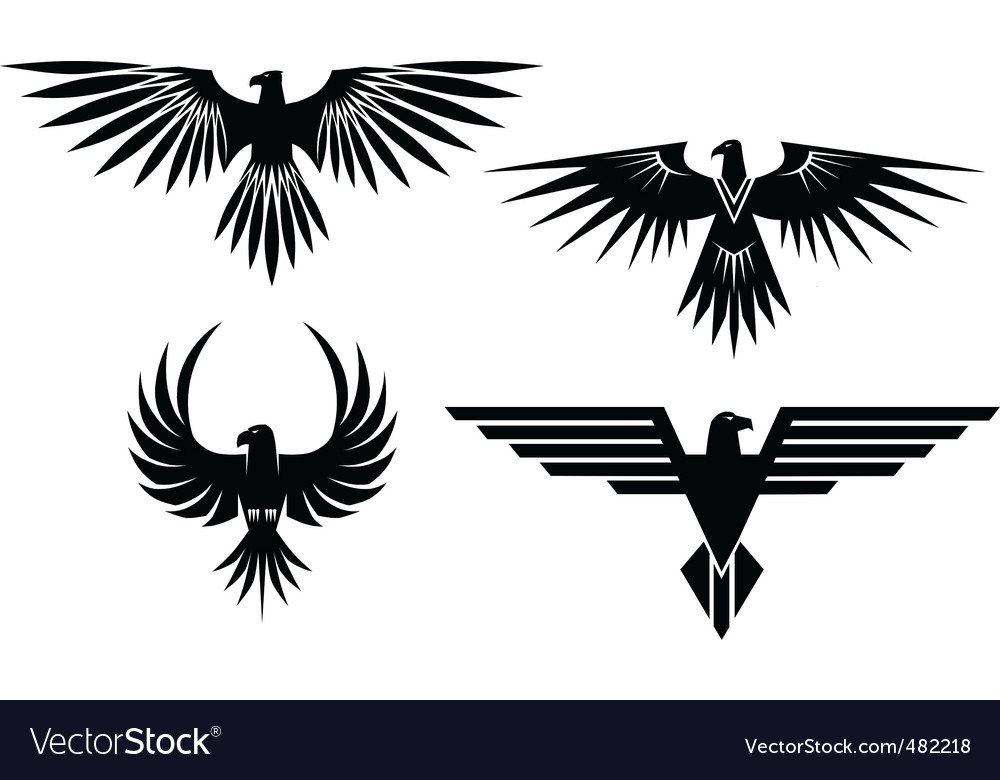 Free eagle symbols and tattos vector