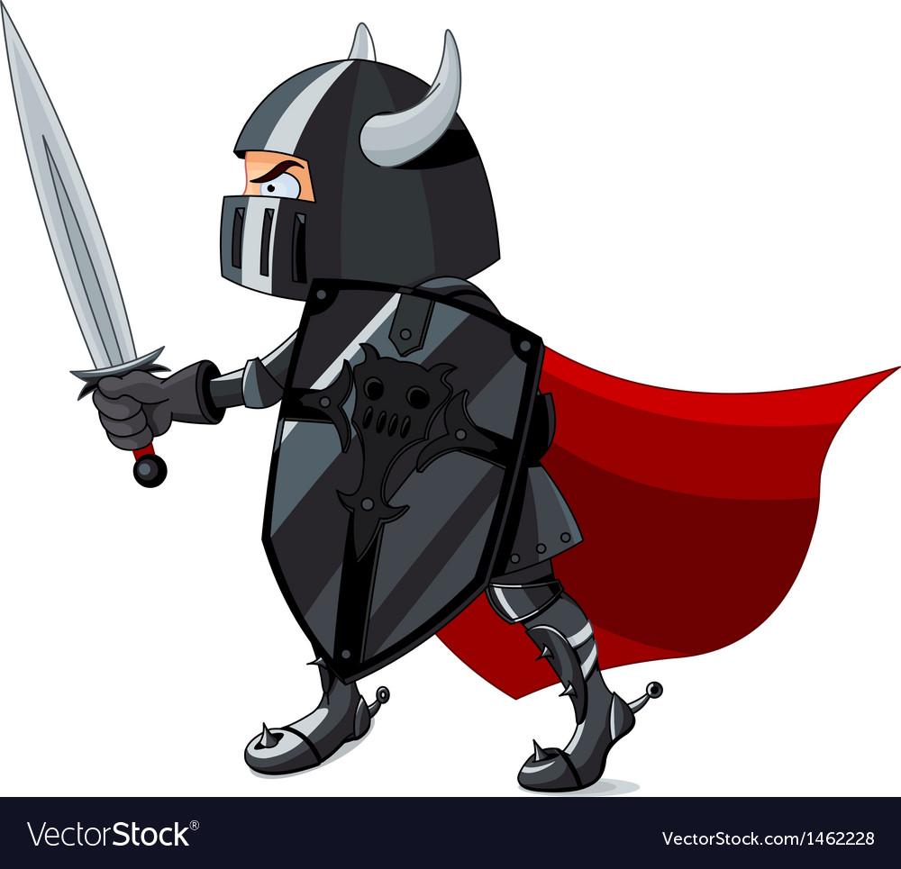 Fighting knight vector