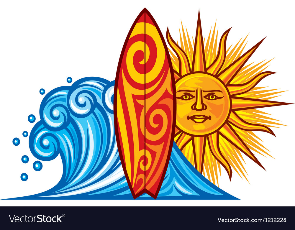 Surf board vector