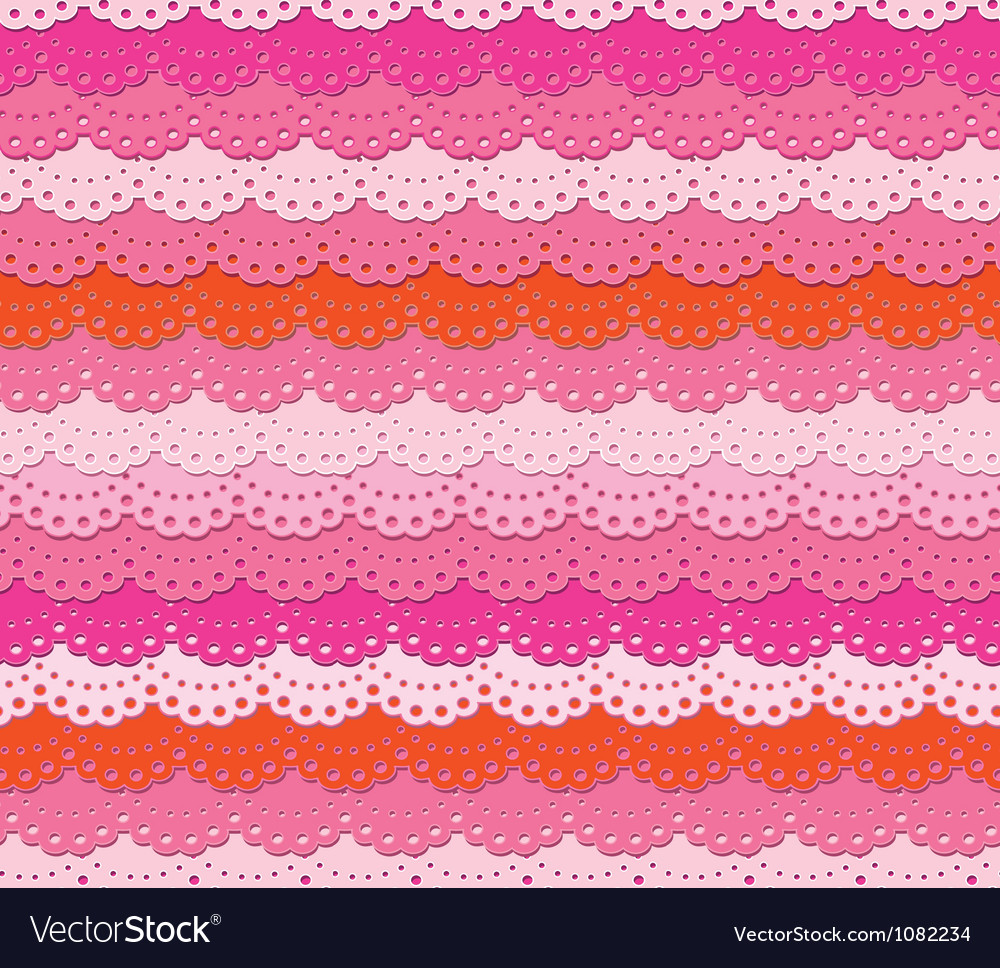 Cute pink ruffle seamless background vector