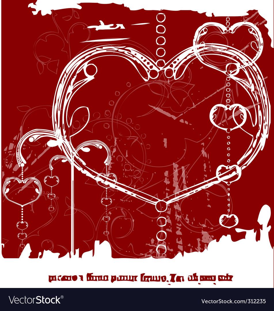 Grunge valentines day vector