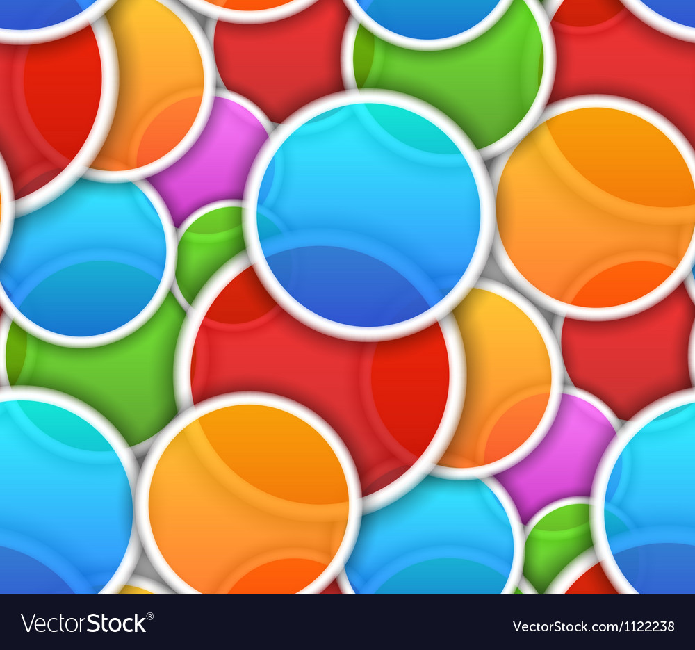 Seamless pattern with colorful circles vector