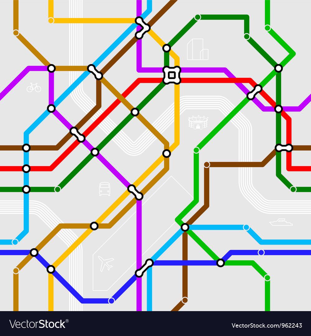Seamless metro scheme vector