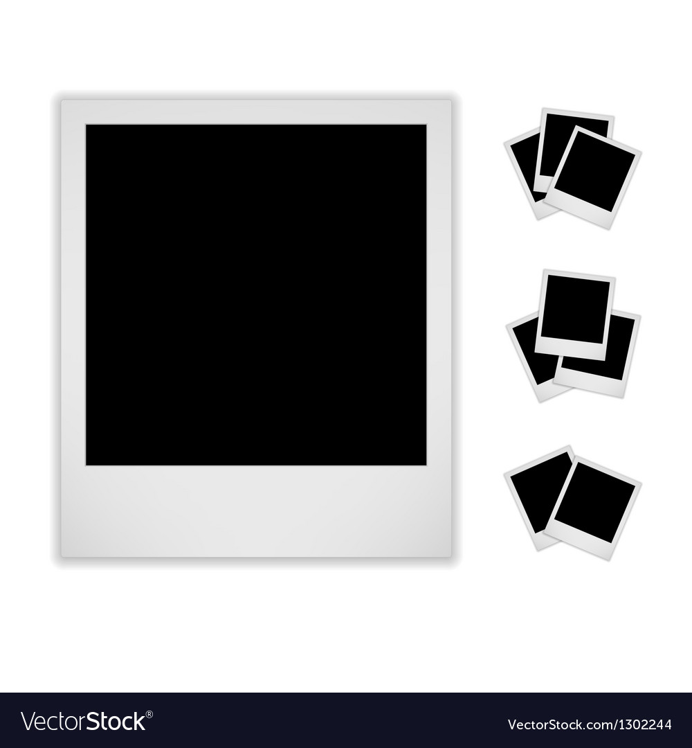Blank photo frame isolated on white background vector