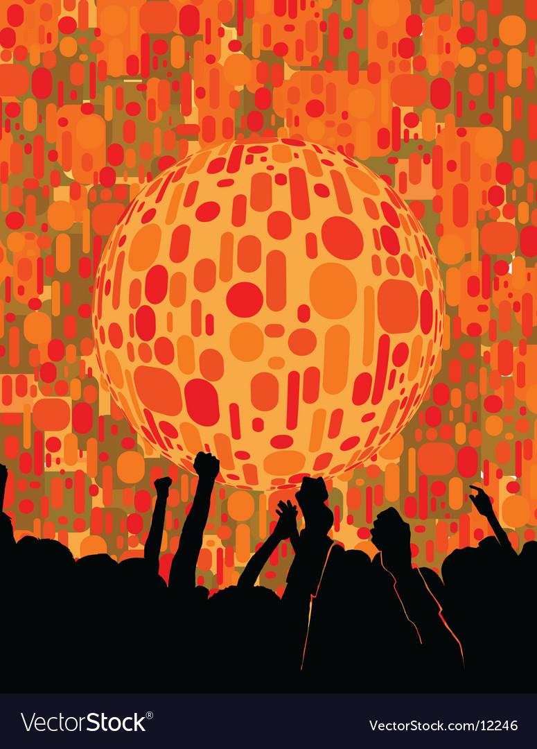 Chic urban nightclub graphic vector