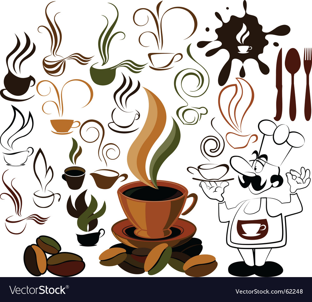 Cafe menu icon vector