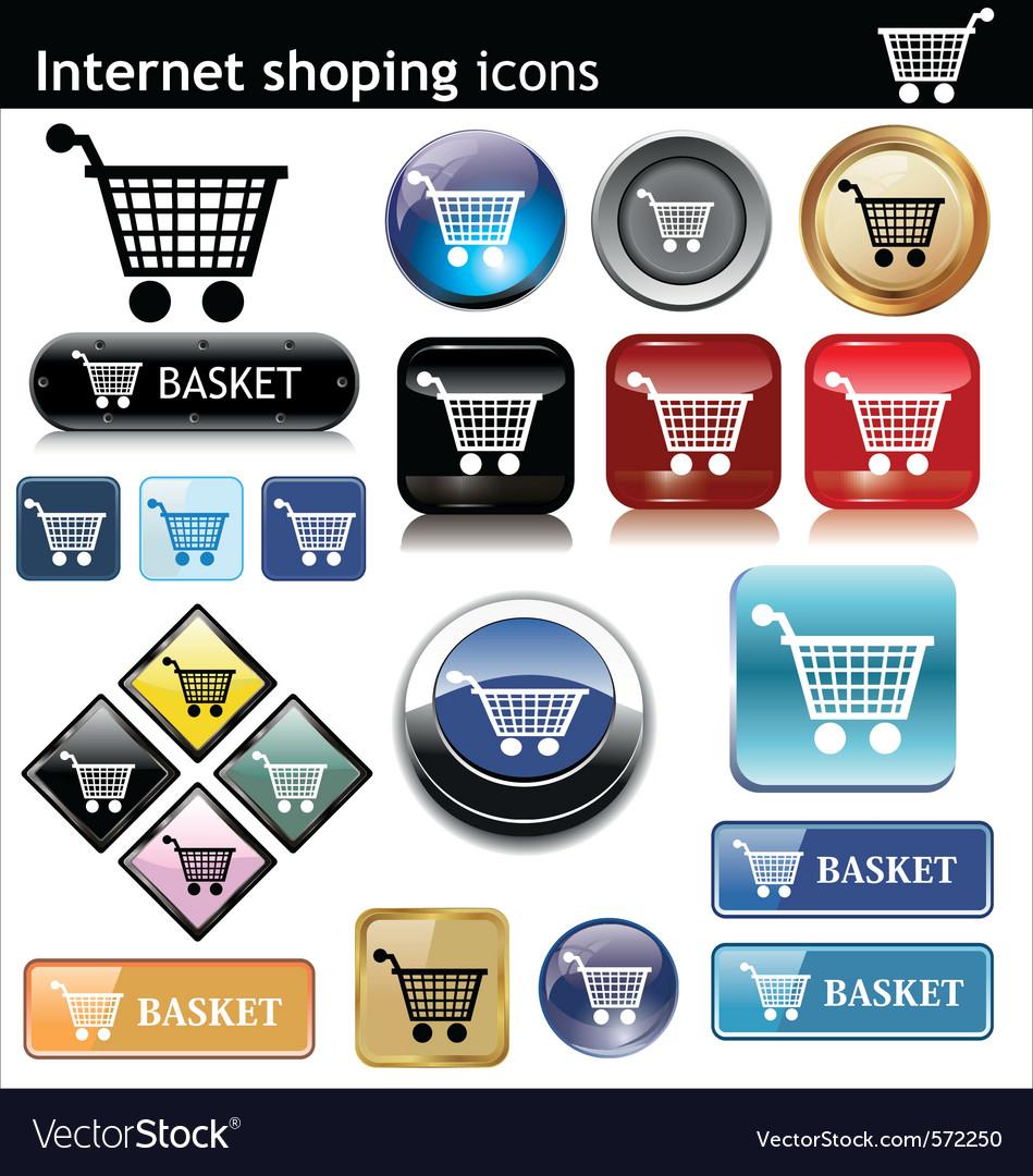 Internet shopping e commerce vector
