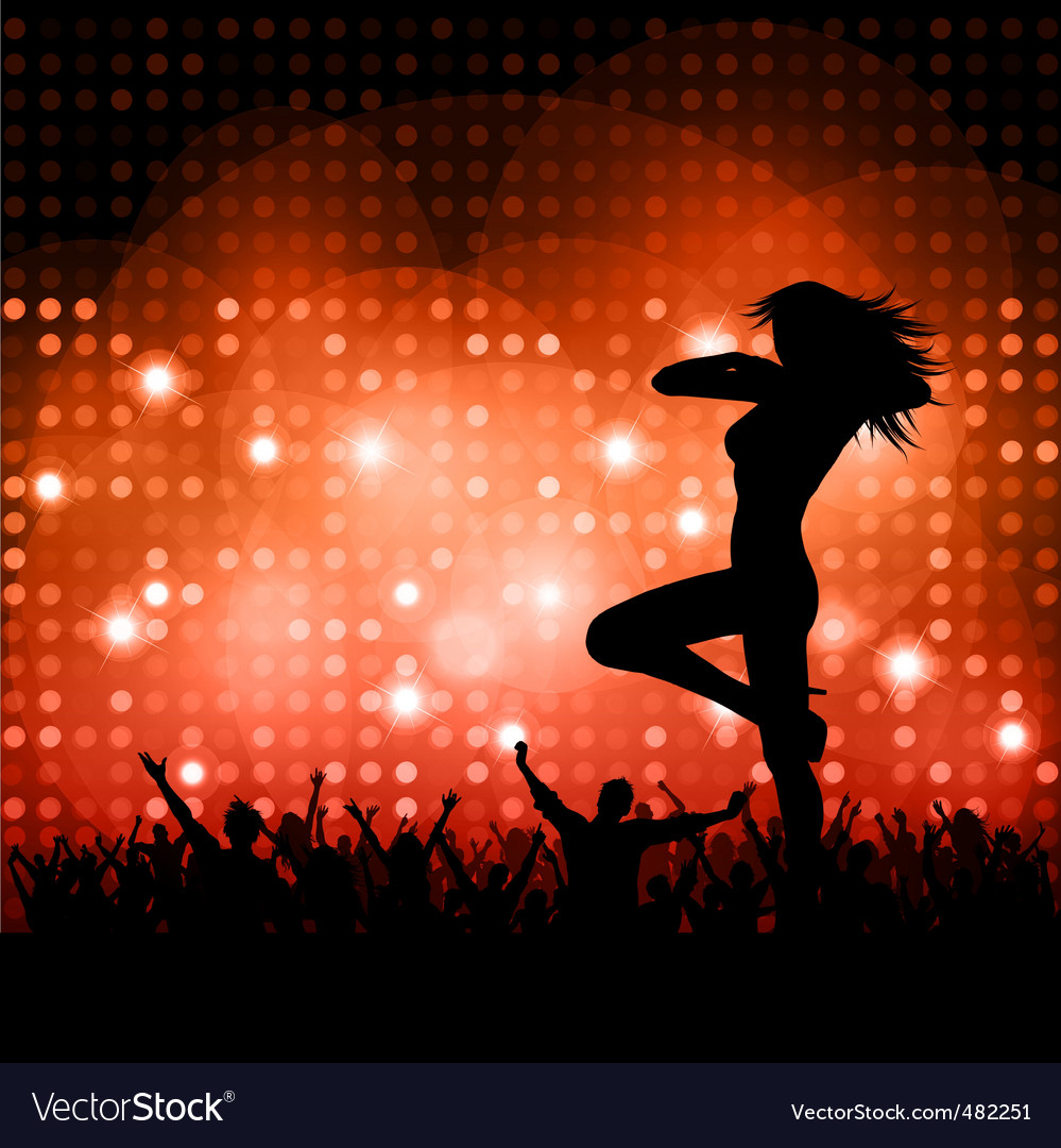 Sexy female with crowd vector