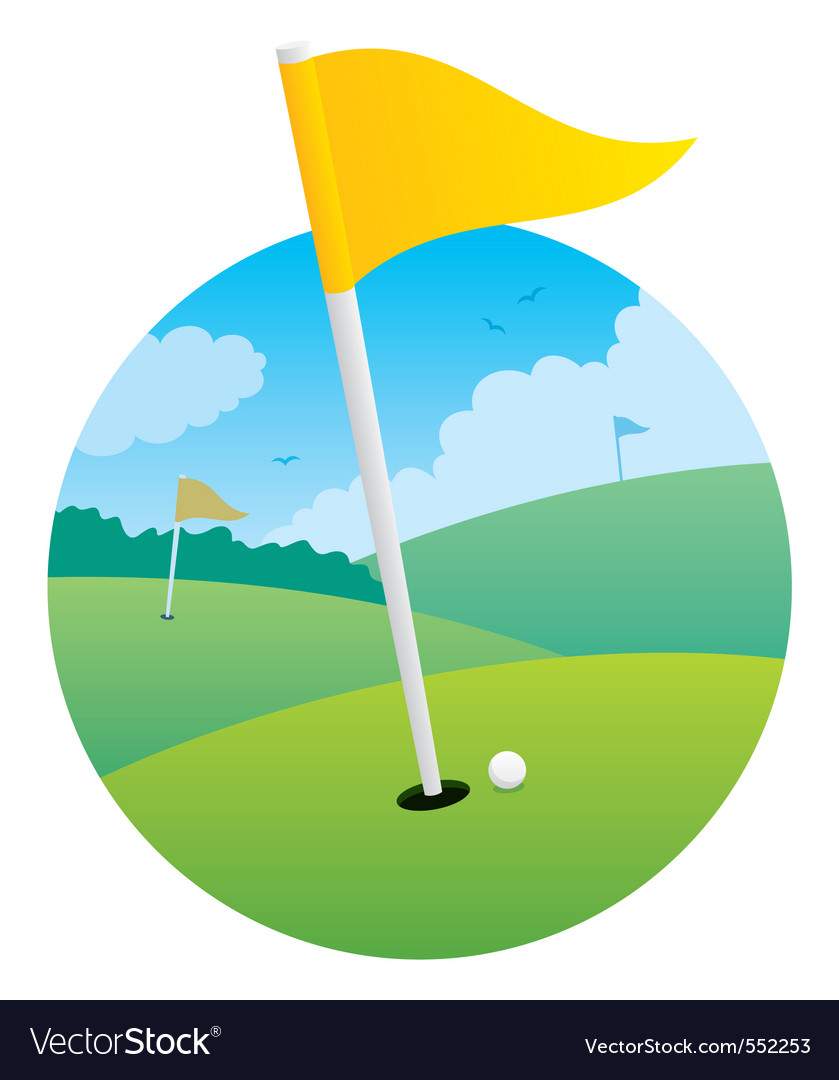 Golf flag vector