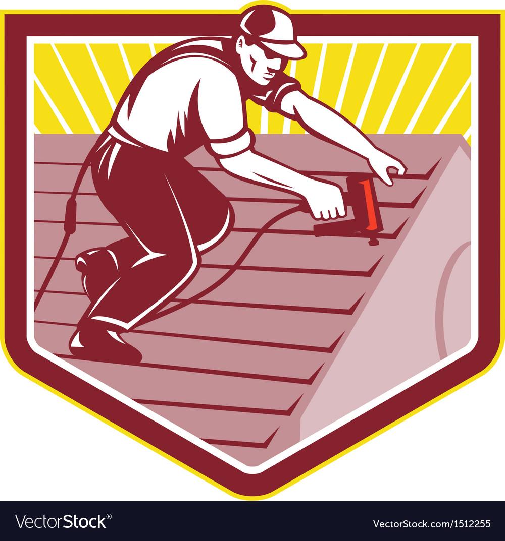 Roofer Vector Roofer roofing worker retro vectorRoofer Vector