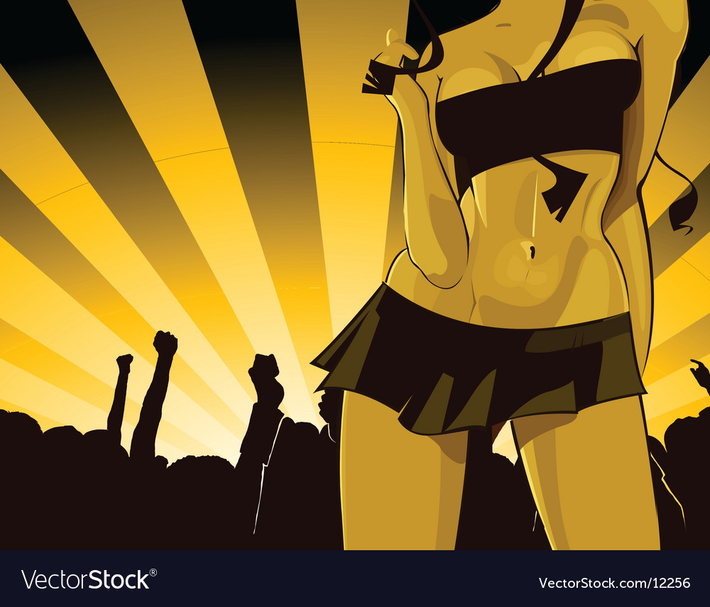 Party babe illustration vector