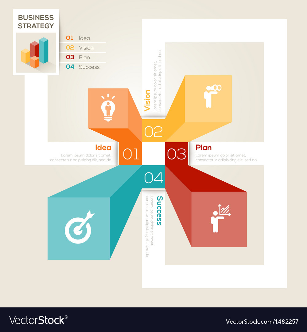 Business strategy design layout vector