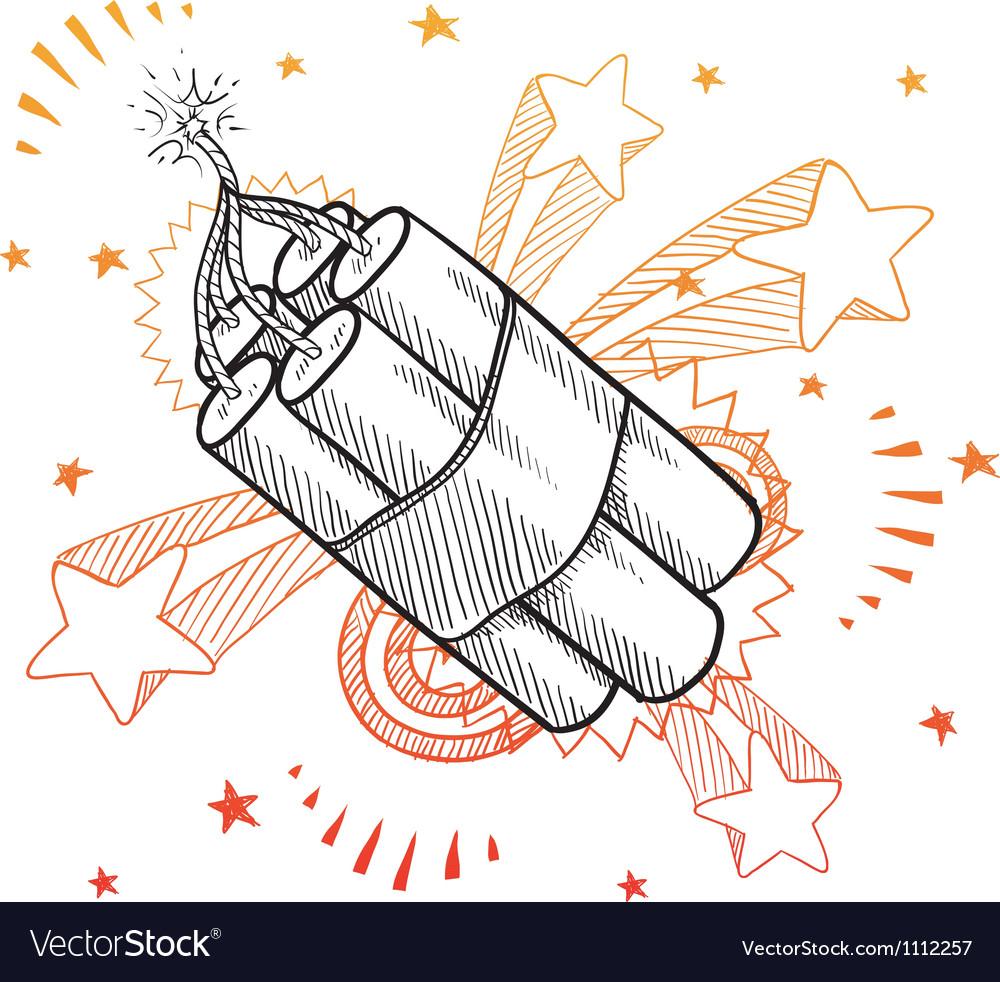 Doodle pop dynamite vector