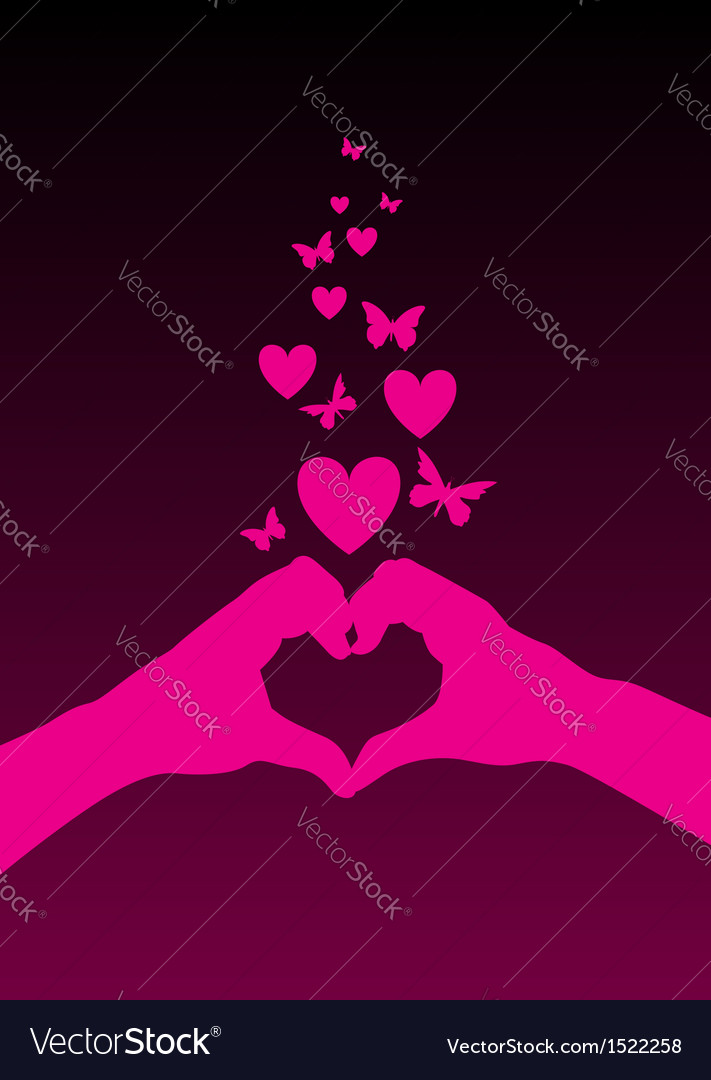 Hands heart vector