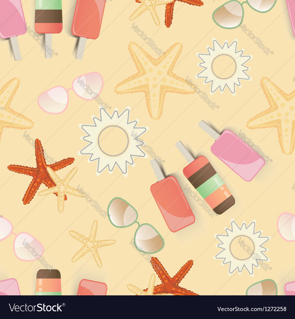 Starfish background pattern vector