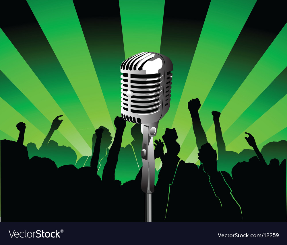 Sing illustration vector