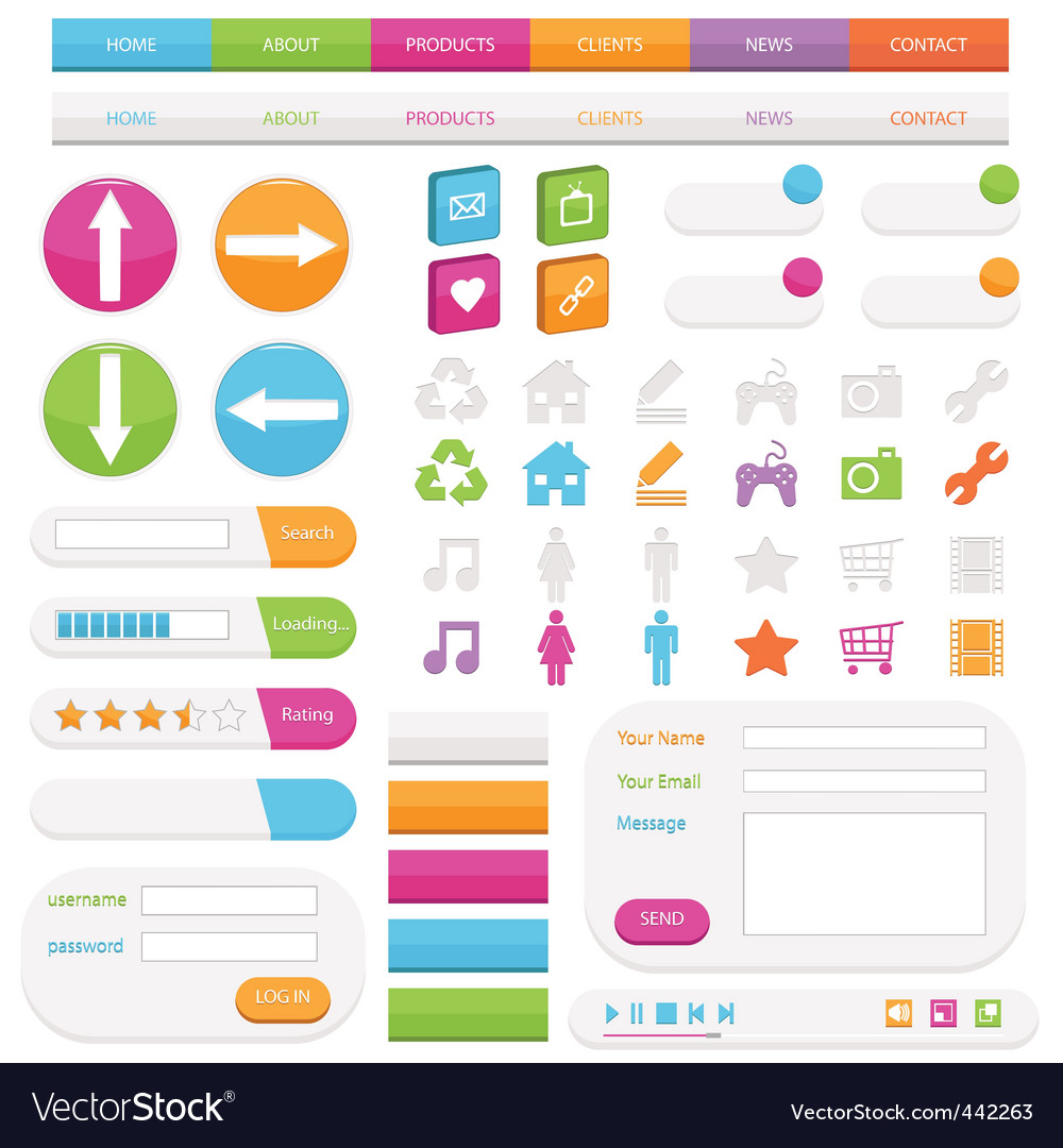 Web objects vector