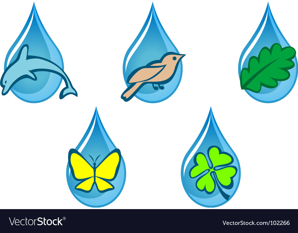 Free ecology icons vector