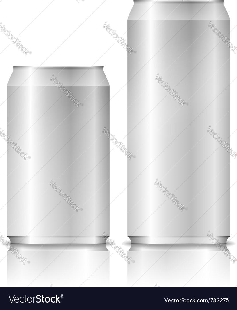 Aluminium cans vector