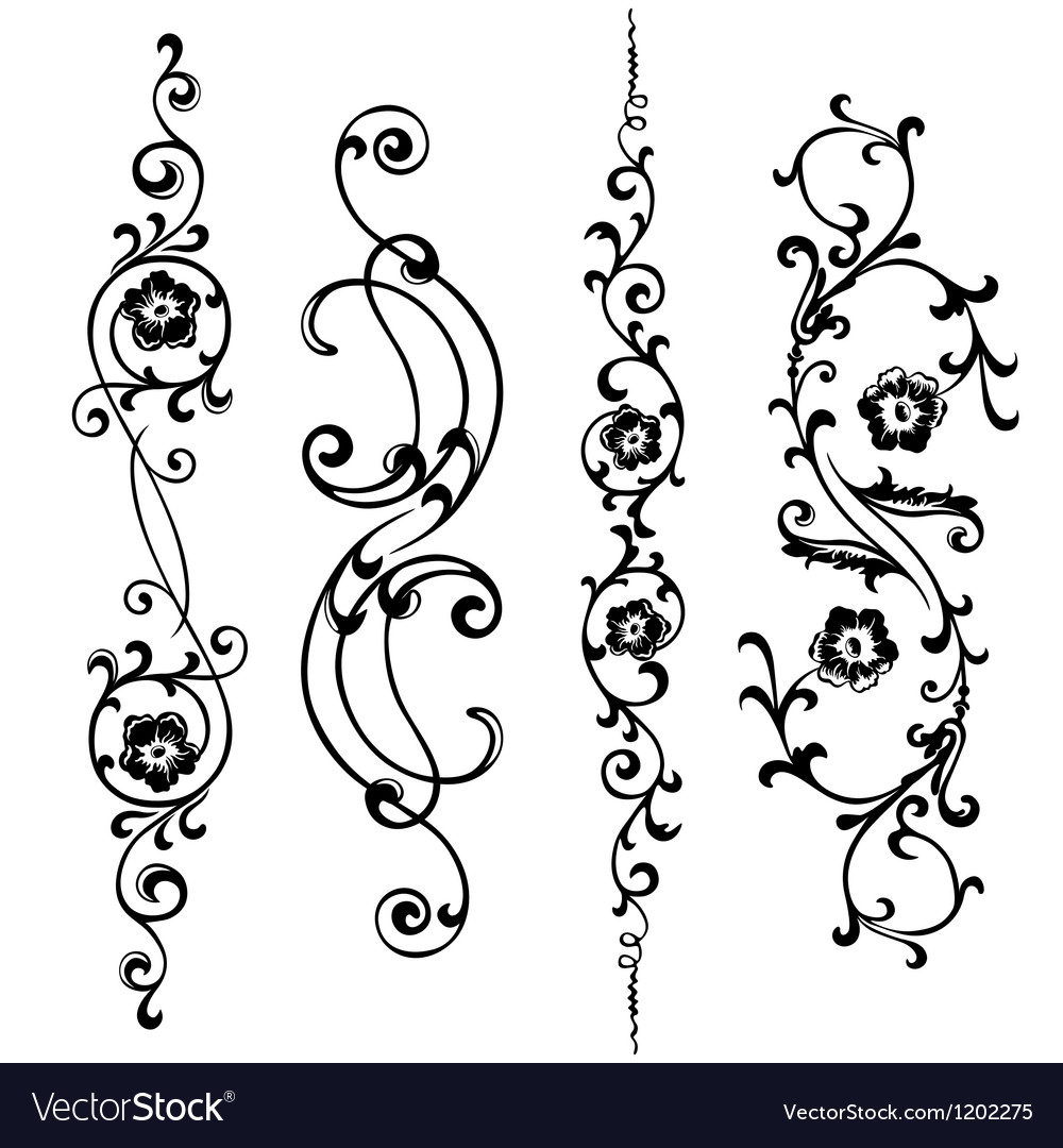 Swirling ornament vector