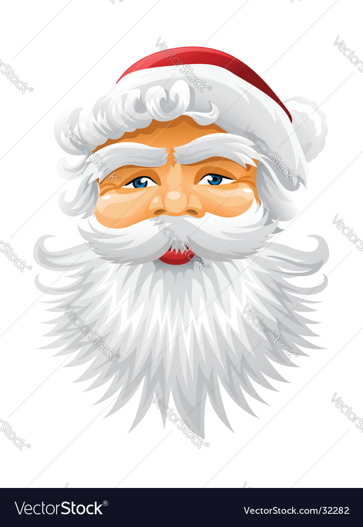 Santa Claus Beard Template Face of santa claus vector