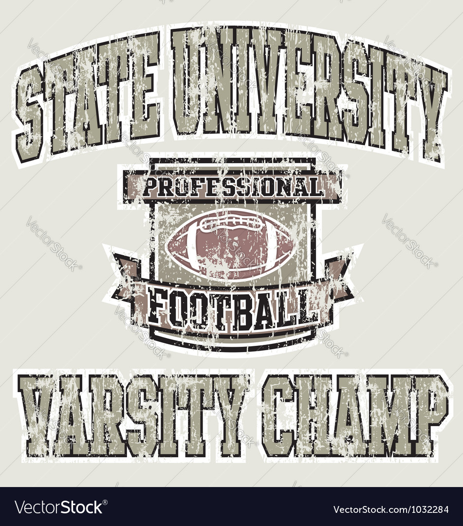 Football varsity champ vector