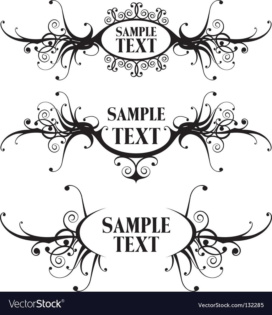 Floral design frames vector