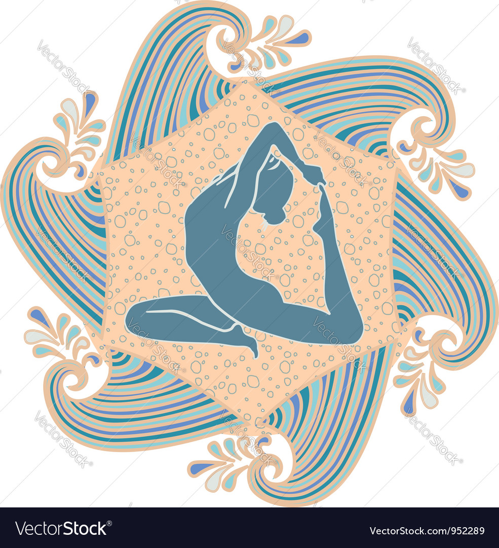 Summer yoga vector