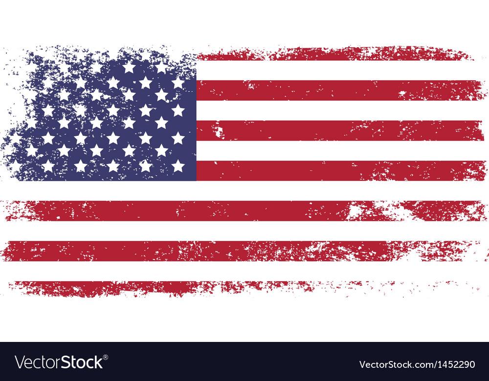 Grunge flag vector