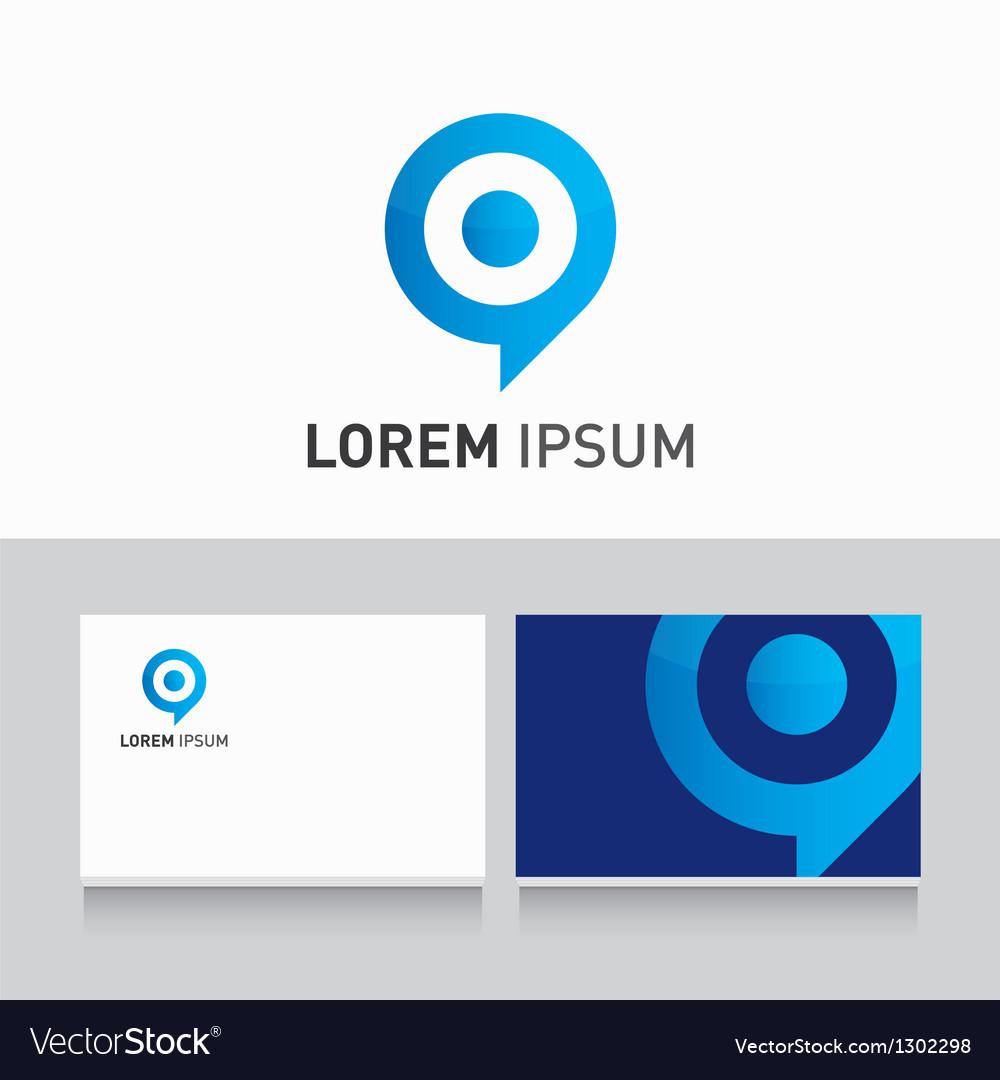 Logo company card target vector