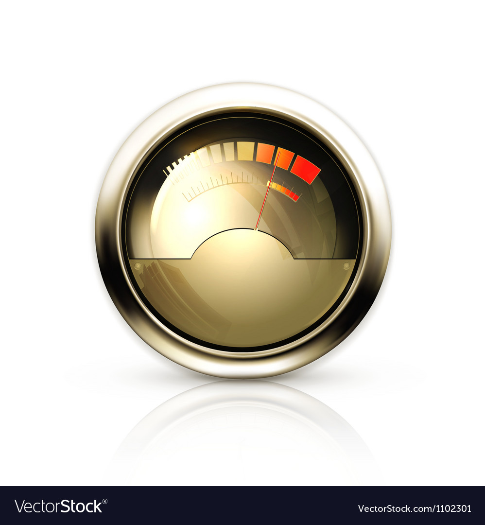 Audio gauge vector