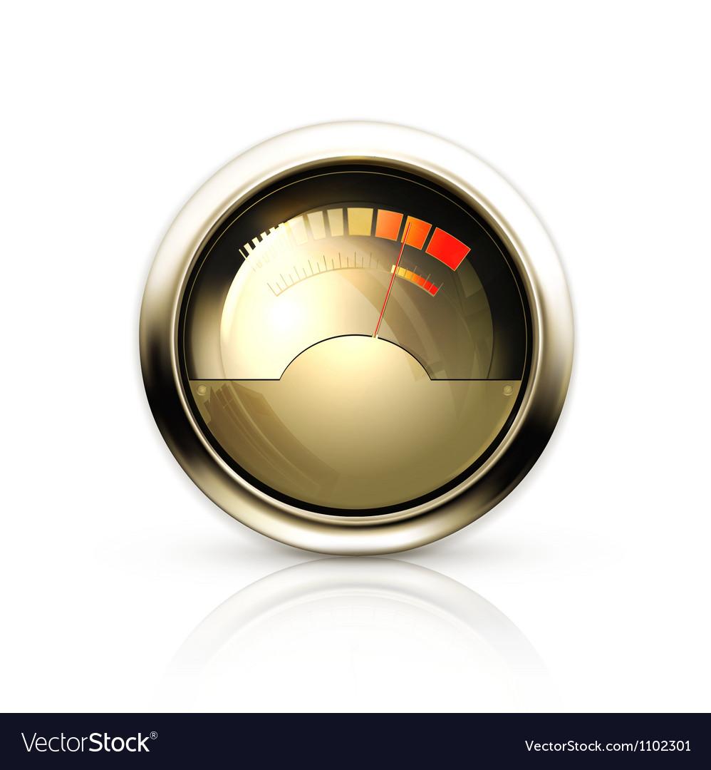 Audio gauge vector